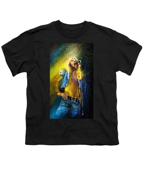 Robert Plant 01 Youth T-Shirt by Miki De Goodaboom