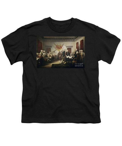 Signing The Declaration Of Independence Youth T-Shirt
