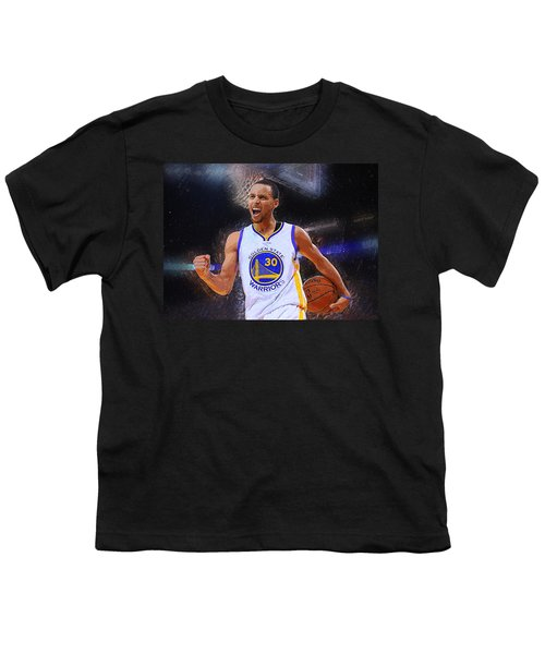 Stephen Curry Youth T-Shirt by Semih Yurdabak
