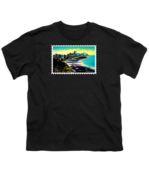 Surreal Colors Of Miami Beach Florida Youth T-Shirt by Elaine Plesser