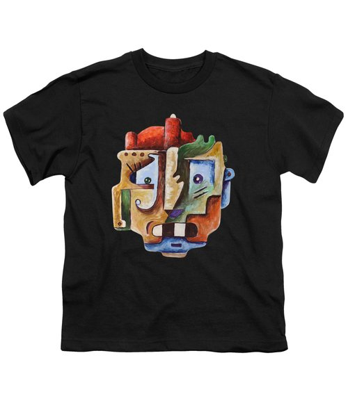 Youth T-Shirt featuring the painting Surrealism Head by Sotuland Art