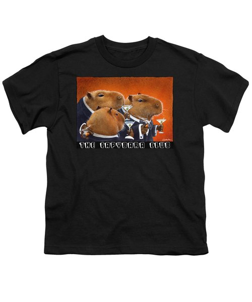The Capybara Club Youth T-Shirt by Will Bullas
