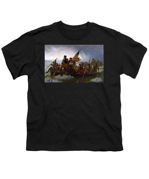 Washington Crossing The Delaware Youth T-Shirt by Emanuel Leutze