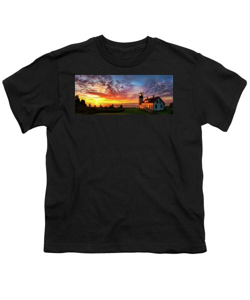 West Quoddy Head Light Youth T-Shirt