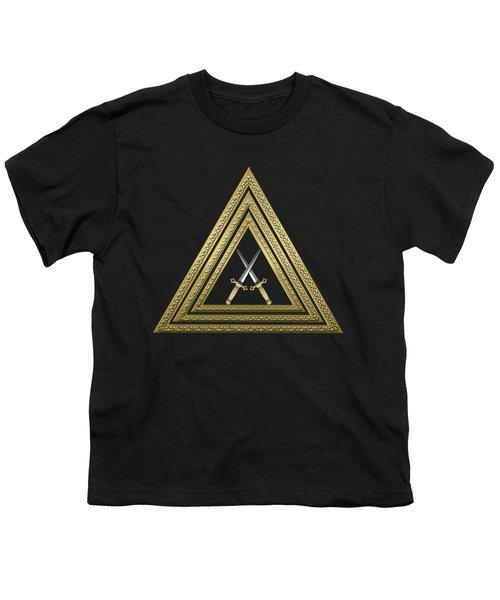 15th Degree Mason - Knight Of The East Masonic Jewel  Youth T-Shirt by Serge Averbukh