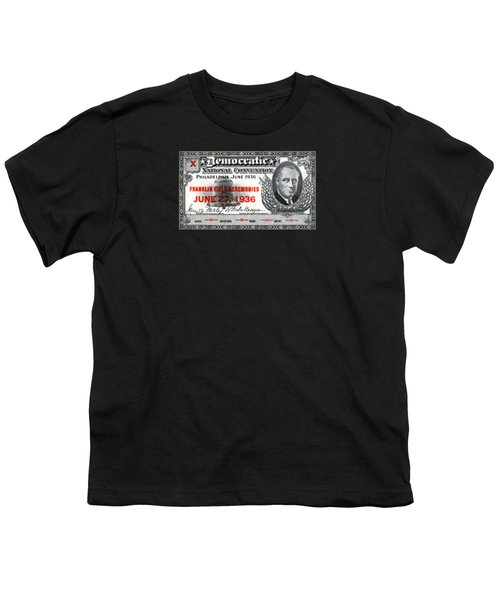 1936 Democrat National Convention Ticket Youth T-Shirt