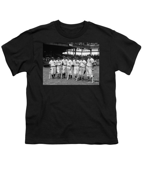 1937 All Star Baseball Players Youth T-Shirt