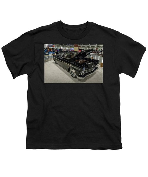 Youth T-Shirt featuring the photograph 1955 Ford Customline by Randy Scherkenbach