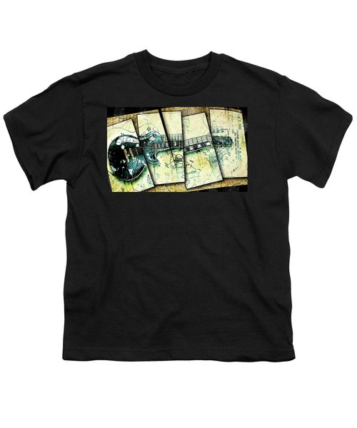 1955 Les Paul Custom Black Beauty V2 Youth T-Shirt by Gary Bodnar