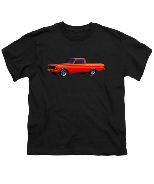 1965 Ford Falcon Ranchero Day At The Beach Youth T-Shirt by Chas Sinklier