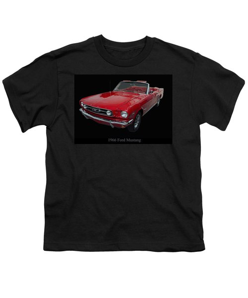 1966 Ford Mustang Convertible Youth T-Shirt