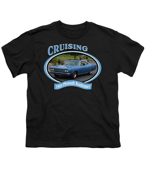 1969 Plymouth Roadrunner Green Youth T-Shirt