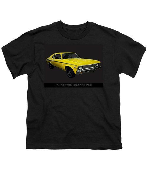 1971 Chevy Nova Yenko Deuce Youth T-Shirt