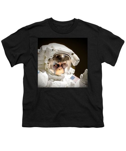 1st Into Space  Youth T-Shirt by Scott French