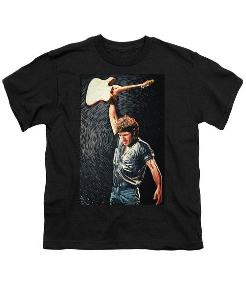 Bruce Springsteen Youth T-Shirt by Taylan Apukovska