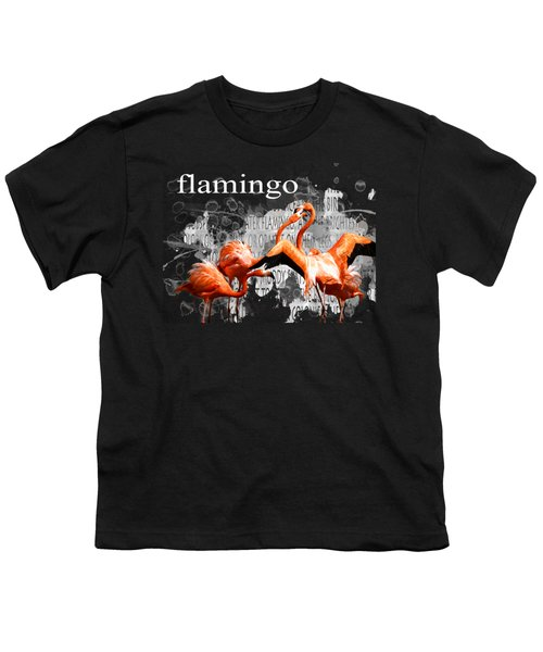 Flamingo Youth T-Shirt by Methune Hively