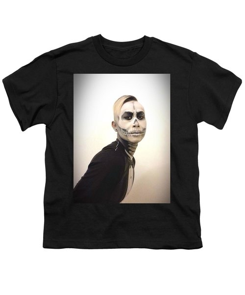 Skull And Tux Youth T-Shirt by Kent Chua