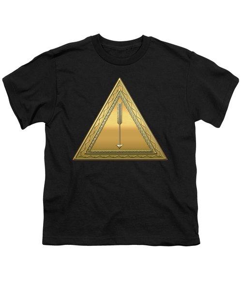 21st Degree Mason - Noachite Or Prussian Knight Masonic  Youth T-Shirt by Serge Averbukh