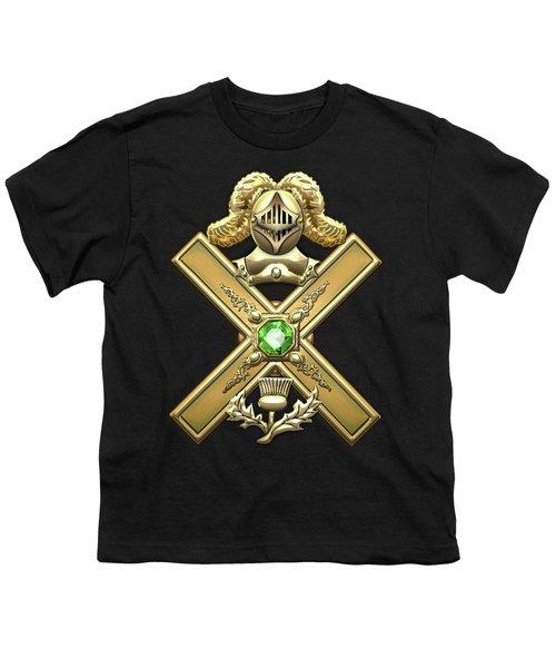 29th Degree Mason - Scottish Knight Of Saint Andrew Masonic Jewel  Youth T-Shirt by Serge Averbukh
