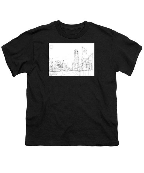 5.2.japan-1-tokyo-skyline Youth T-Shirt by Charlie Szoradi