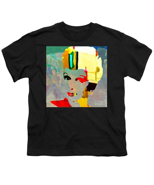 Youth T-Shirt featuring the mixed media Lucille Ball by Marvin Blaine