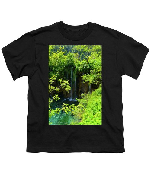 Waterfall In Plitvice National Park In Croatia Youth T-Shirt