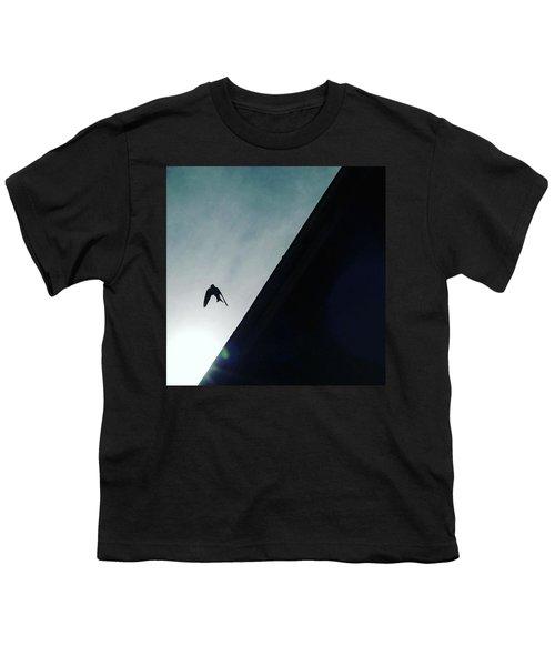 A Bird Captured In Flight Youth T-Shirt