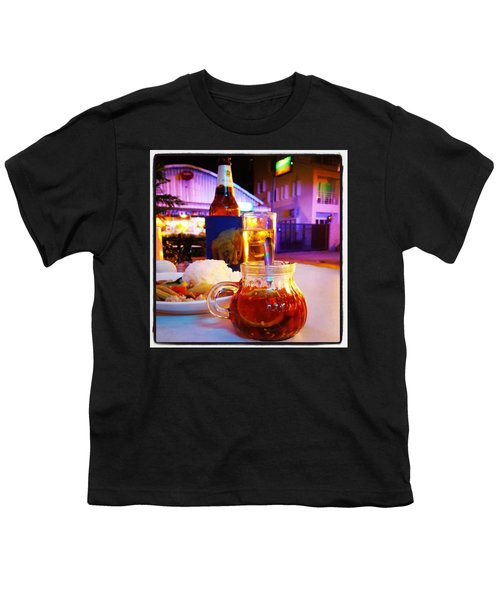 Youth T-Shirt featuring the photograph A Little Dab Will Do Yah. It's Sliced by Mr Photojimsf