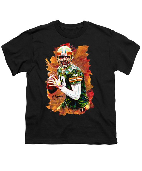Aaron Rodgers Youth T-Shirt by Maria Arango