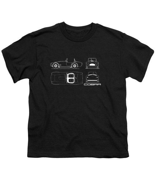 Ac Cobra Blueprint Youth T-Shirt by Mark Rogan