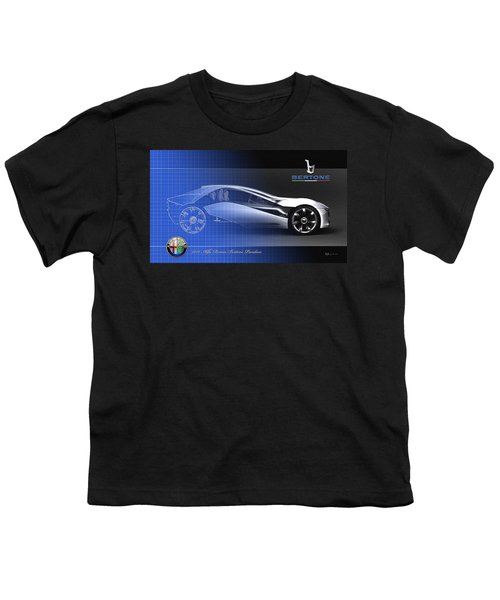 Alfa Romeo Bertone Pandion Concept Youth T-Shirt by Serge Averbukh