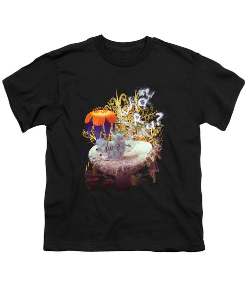 Alice N The Hookah Caterpillar Youth T-Shirt by Methune Hively