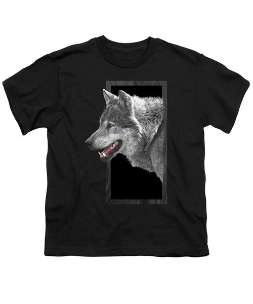 Alpha Male Wolf - You Look Tasty Youth T-Shirt