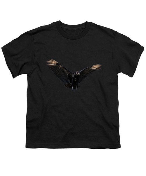 American Black Vulture Youth T-Shirt by Zina Stromberg