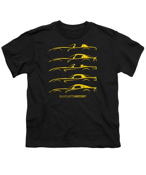 American Snakes Silhouettehistory Youth T-Shirt by Gabor Vida