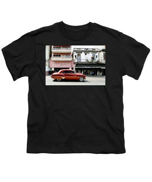 Youth T-Shirt featuring the photograph An American In Havana by Denis Rouleau