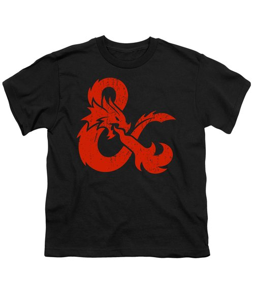 And Logo With Dragon Youth T-Shirt
