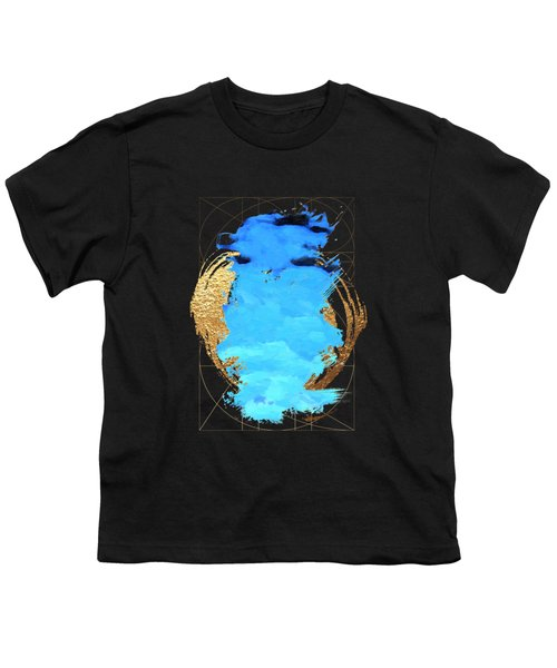 Aqua Gold No. 1 Youth T-Shirt by Serge Averbukh