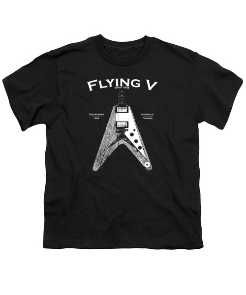 Gibson Flying V Youth T-Shirt by Mark Rogan