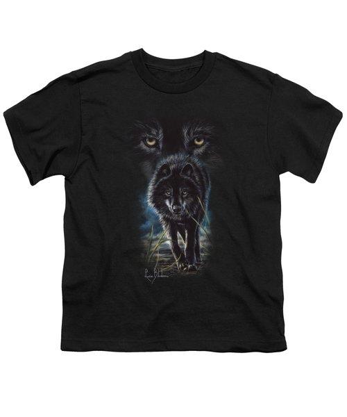 Black Wolf Hunting Youth T-Shirt
