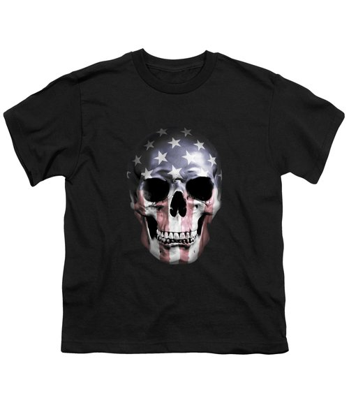 American Skull Youth T-Shirt by Nicklas Gustafsson