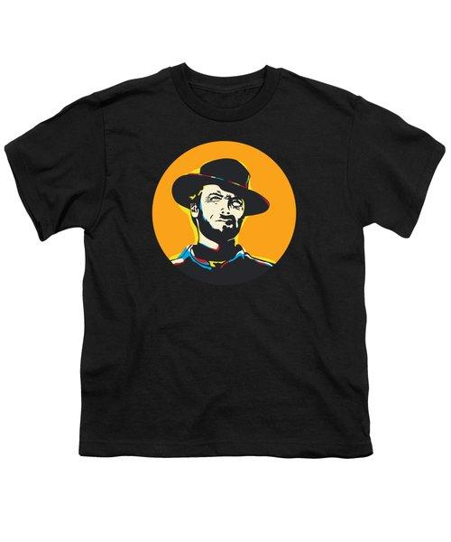 Clint Eastwood Pop Art Portrait Youth T-Shirt