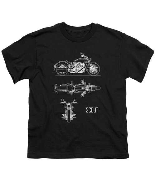 The Scout Motorcycle Blueprint Youth T-Shirt