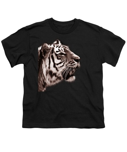 Siberian Tiger Profile Youth T-Shirt by Crystal Wightman