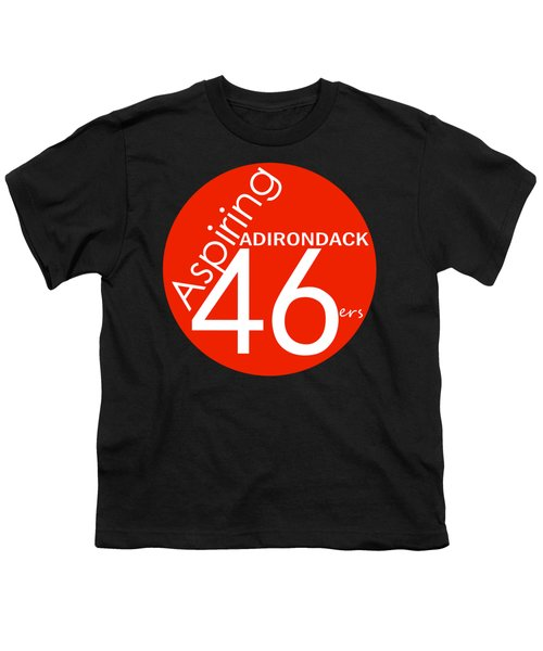 Aspiring Adirondack 46ers Trail Marker Youth T-Shirt by Michael French