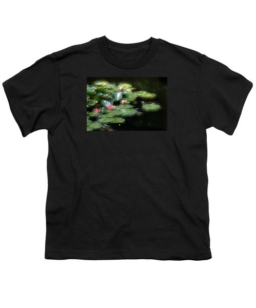 Youth T-Shirt featuring the photograph At Claude Monet's Water Garden 11 by Dubi Roman