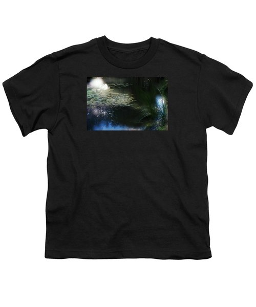 Youth T-Shirt featuring the photograph At Claude Monet's Water Garden 3 by Dubi Roman