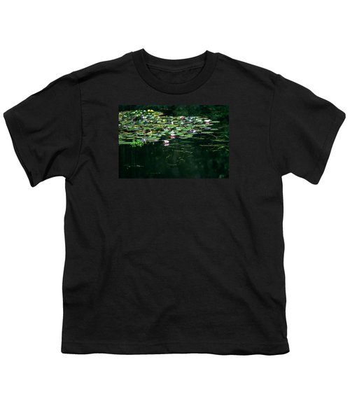 Youth T-Shirt featuring the photograph At Claude Monet's Water Garden 8 by Dubi Roman