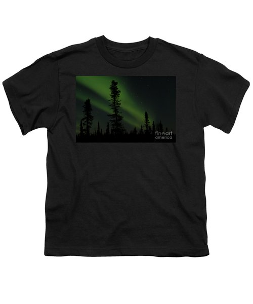 Aurora Borealis The Northern Lights Interior Alaska Youth T-Shirt