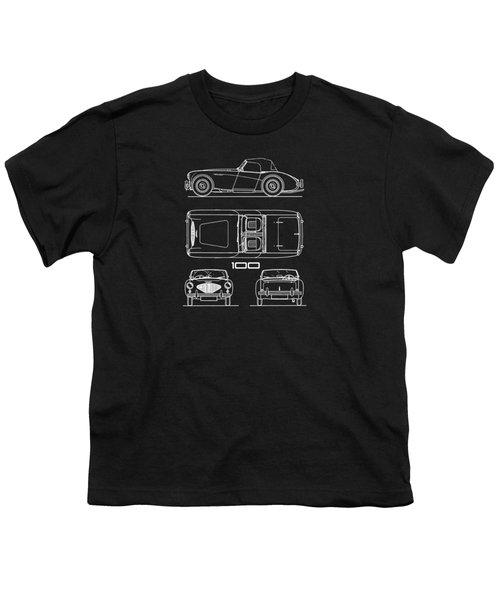 Austin Healey 100 Blueprint Youth T-Shirt
